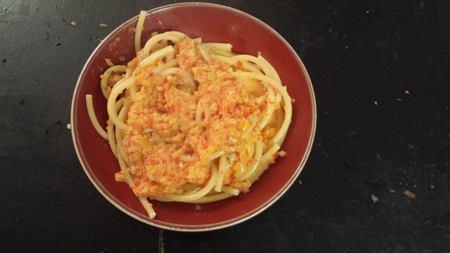 Bucatini sauce au poivron